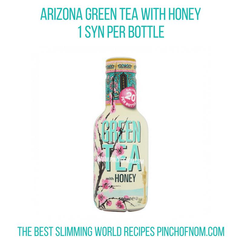 Arizona Green Tea with Honey - Pinch of Nom Slimming World Shopping Essentials