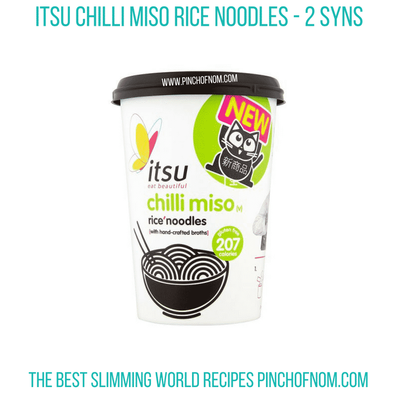 Itsu Chilli Miso Rice Noodles- Pinch of Nom Slimming World Shopping Essentials