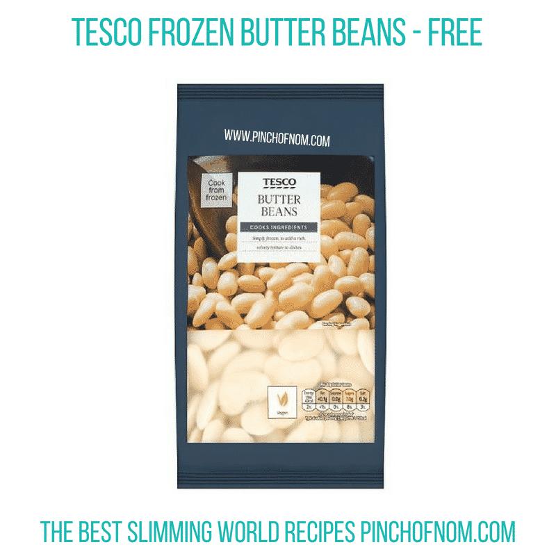 Tesco Frozen Butter Beans - Pinch of Nom Slimming World Shopping Essentials