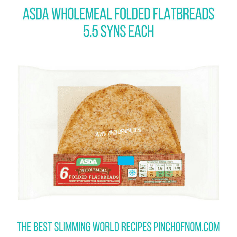 Asda wholemeal flatbread - Pinch of Nom Slimming World Shopping Essentials