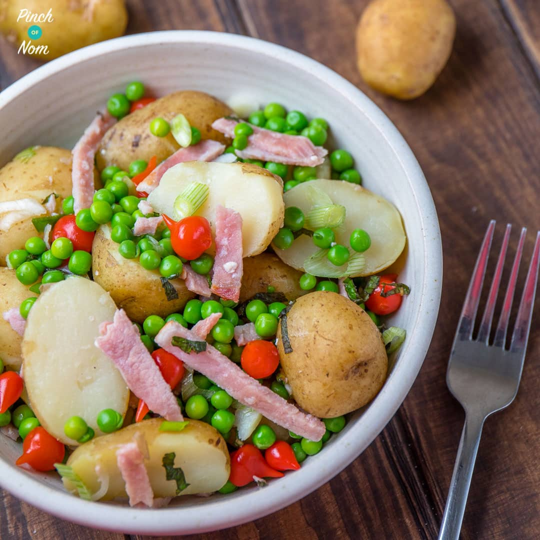 Syn Free Pea, Bacon & Potato Salad | Slimming World-10