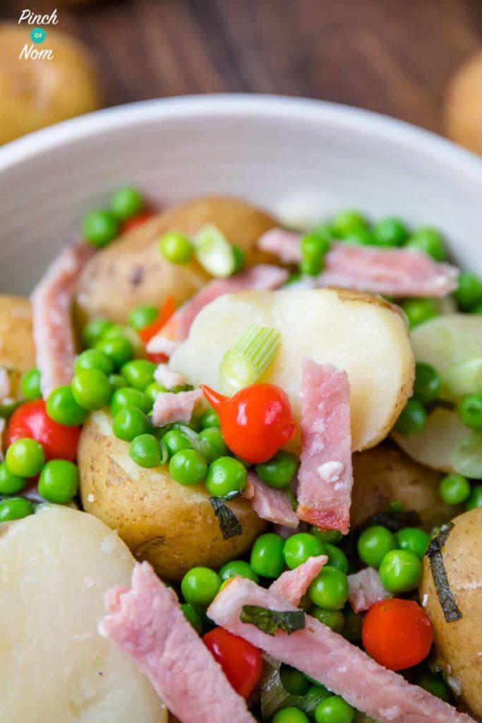 Syn Free Pea, Bacon & Potato Salad
