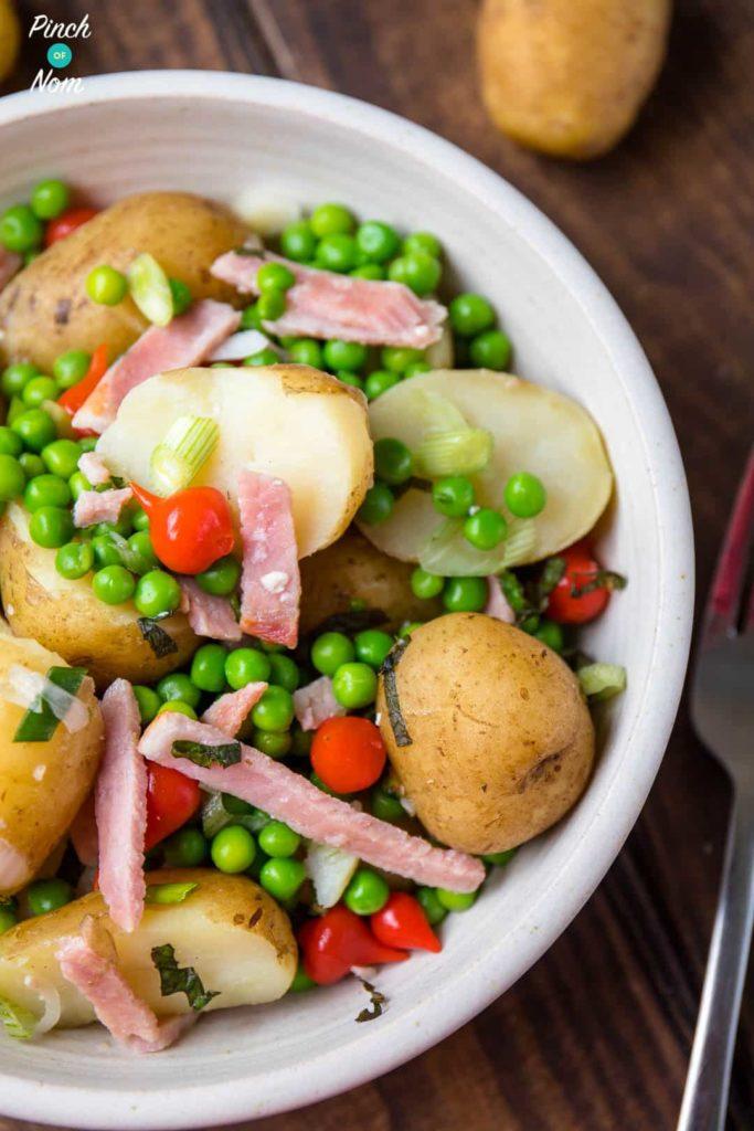 Syn Free Pea, Bacon & Potato Salad | Slimming World-13