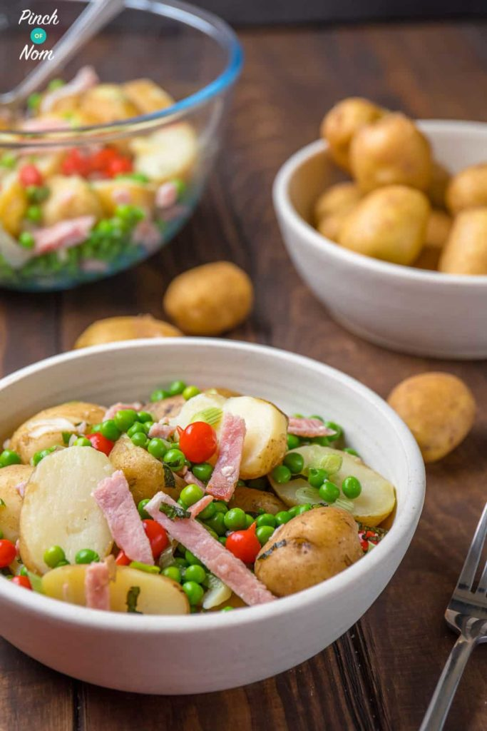 Syn Free Pea, Bacon & Potato Salad | Slimming World-7