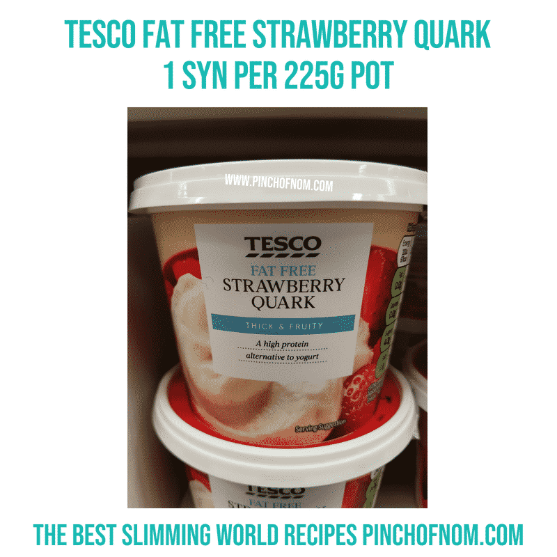 Tesco Strawberry Quark - Pinch of Nom Slimming World Shopping Essentials