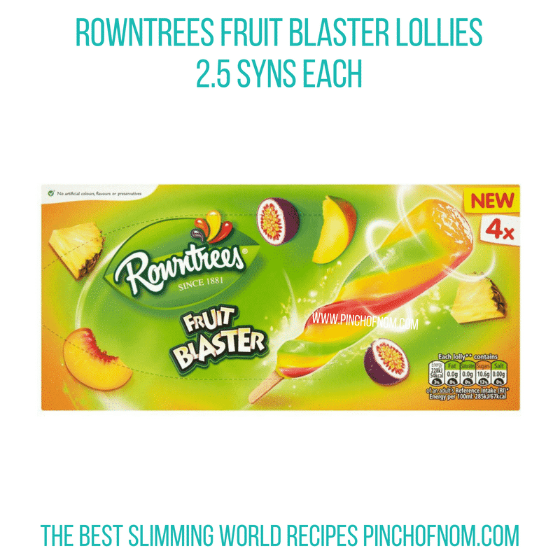 Rowntrees Fruit Blaster - Pinch of Nom Slimming World Shopping Essentials