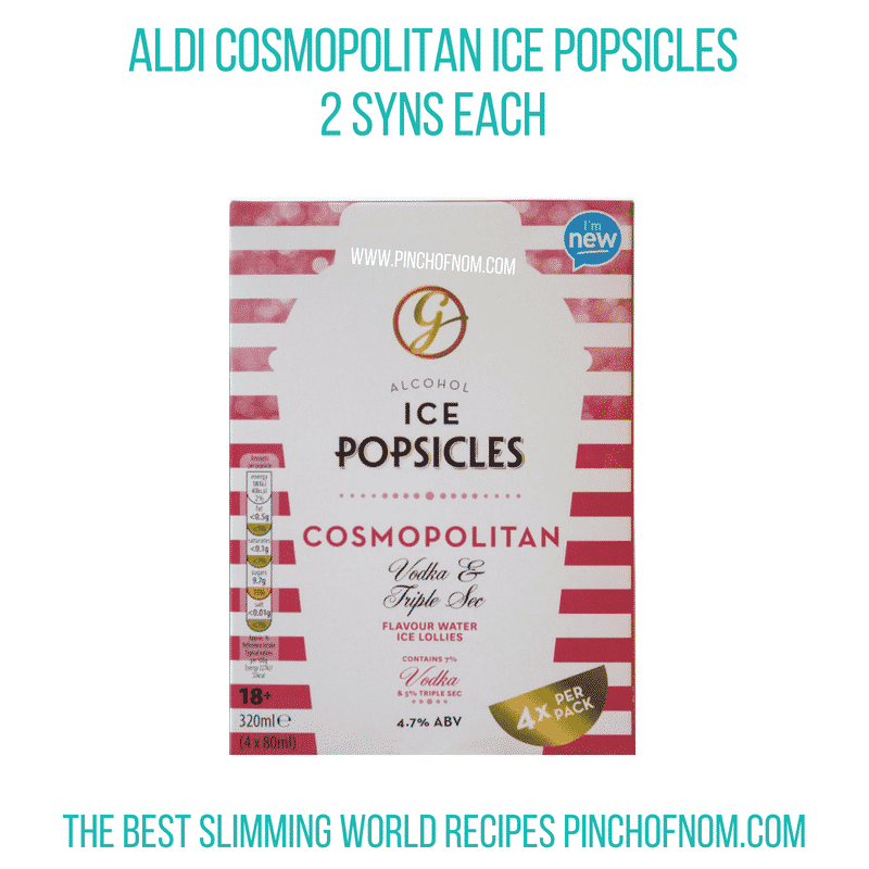Aldi Cosmo popsicles - Pinch of Nom Slimming World Shopping Essentials