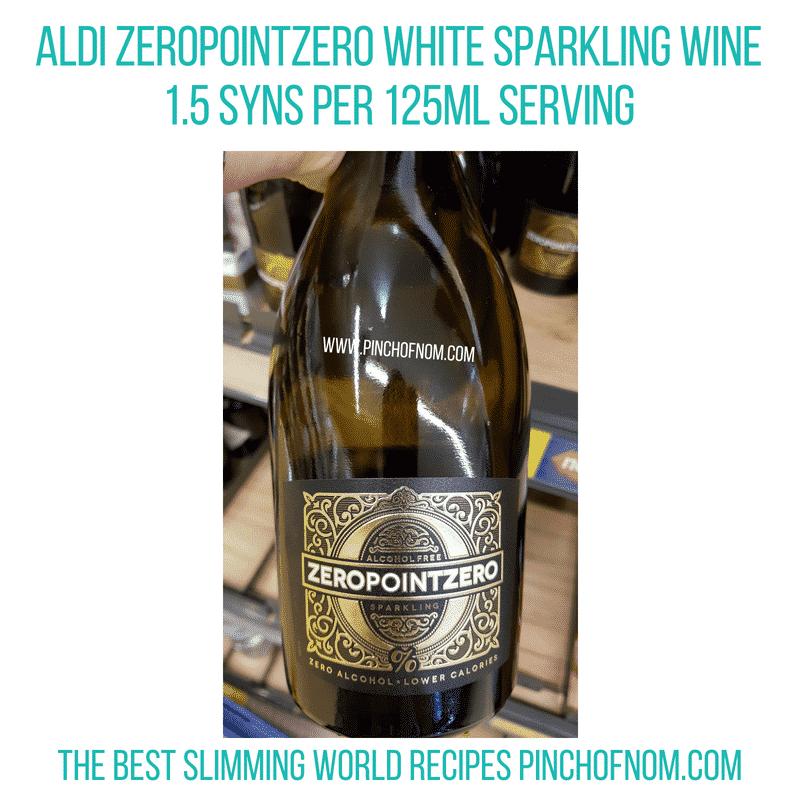 Aldi ZeroPointZero white - Pinch of Nom Slimming World Shopping Essentials