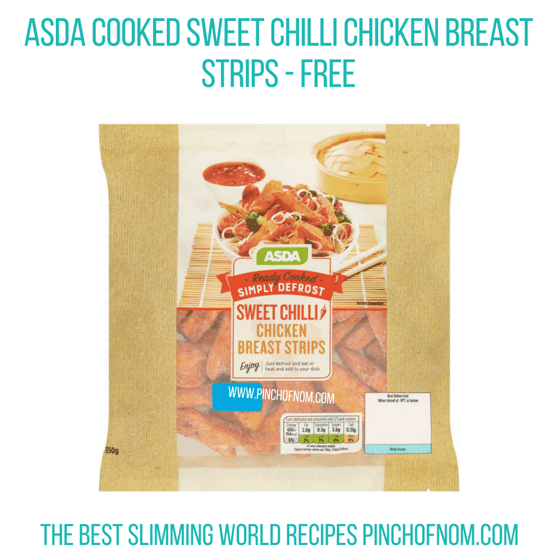 Asda Simply Defrost sweet chilli - Pinch of Nom Slimming World Shopping Essentials
