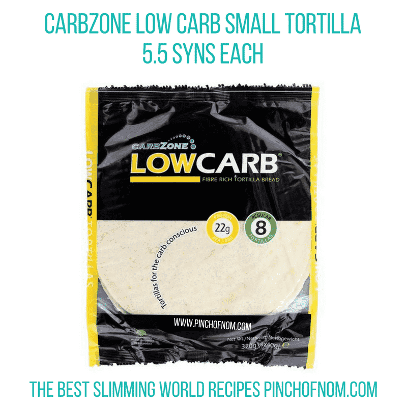 Carbzone Low Carb tortillas - Pinch of Nom Slimming World Shopping Essentials