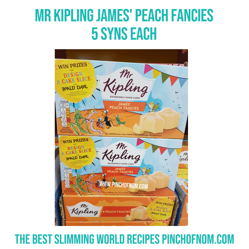 Mr Kipling James' Peach Fancies - Pinch of Nom Slimming World Shopping Essentials