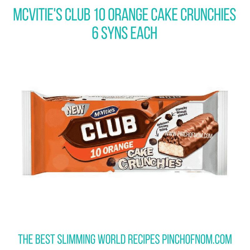 Club Orange Cake crunch - Pinch of Nom Slimming World Shopping Essentials