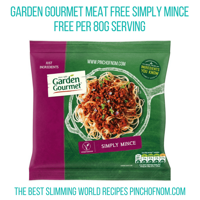 Garden Gourmet mince - Pinch of Nom Slimming World Shopping Essentials