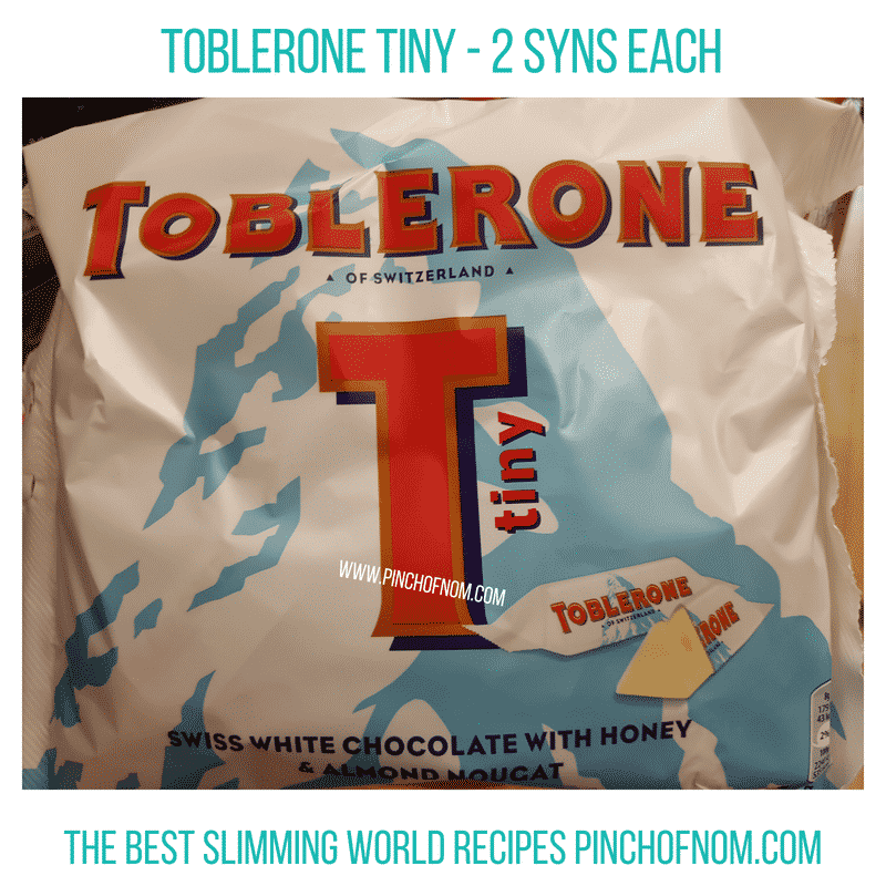 Toblerone Tiny - Pinch of Nom Slimming World Shopping Essentials
