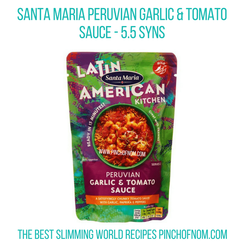 Santa Maria Peruvian sauce - Pinch of Nom Slimming World Shopping Essentials