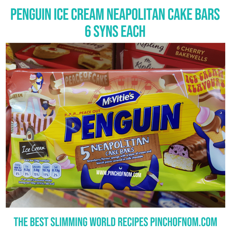 Penguin Ice cream cake bar - Pinch of Nom Slimming World Shopping Essentials