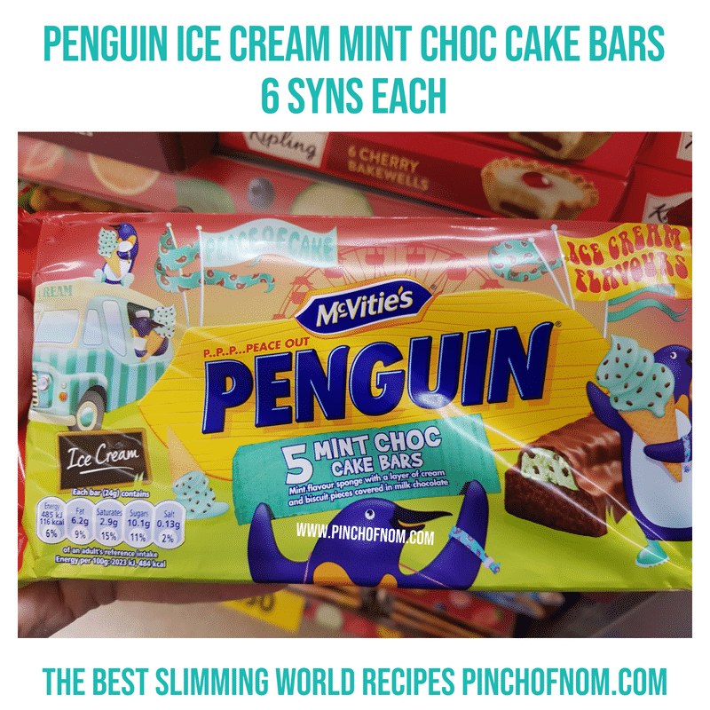 Penguin mint choc cakes - Pinch of Nom Slimming World Shopping Essentials
