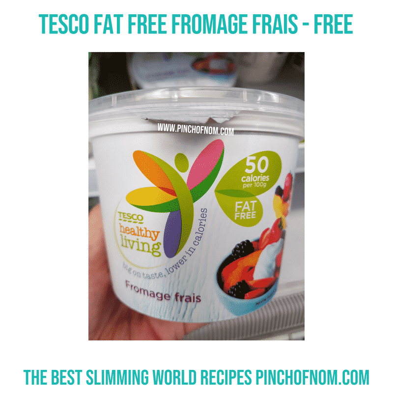 Tesco Fat Free Fromage Frais - Pinch of Nom Slimming World Shopping Essentials