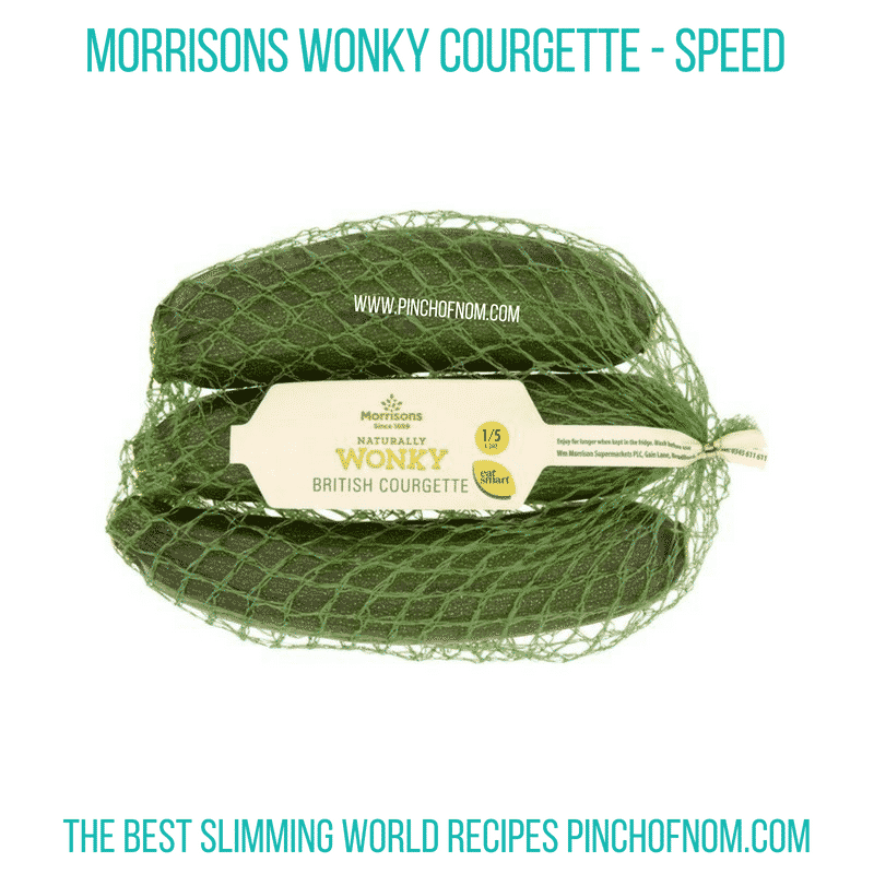 Morrisons Wonky Courgettes - Pinch of Nom Slimming World Shopping Essentials