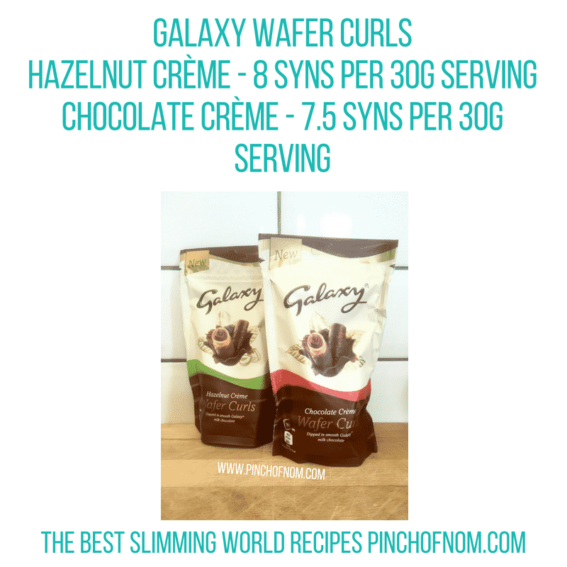 Galaxy Wafer Curls - Pinch of Nom Slimming World Shopping Essentials