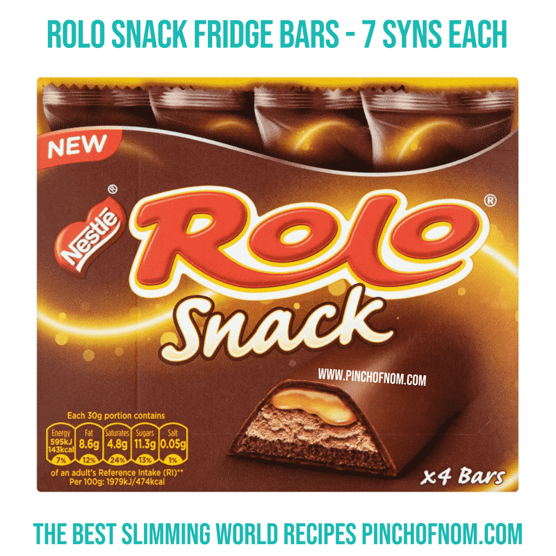 Rolo snack bars - Pinch of Nom Slimming World Shopping Essentials