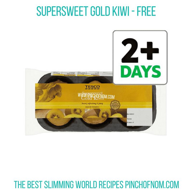 Supersweet Gold Kiwi - Pinch of Nom Slimming World Shopping Essentials