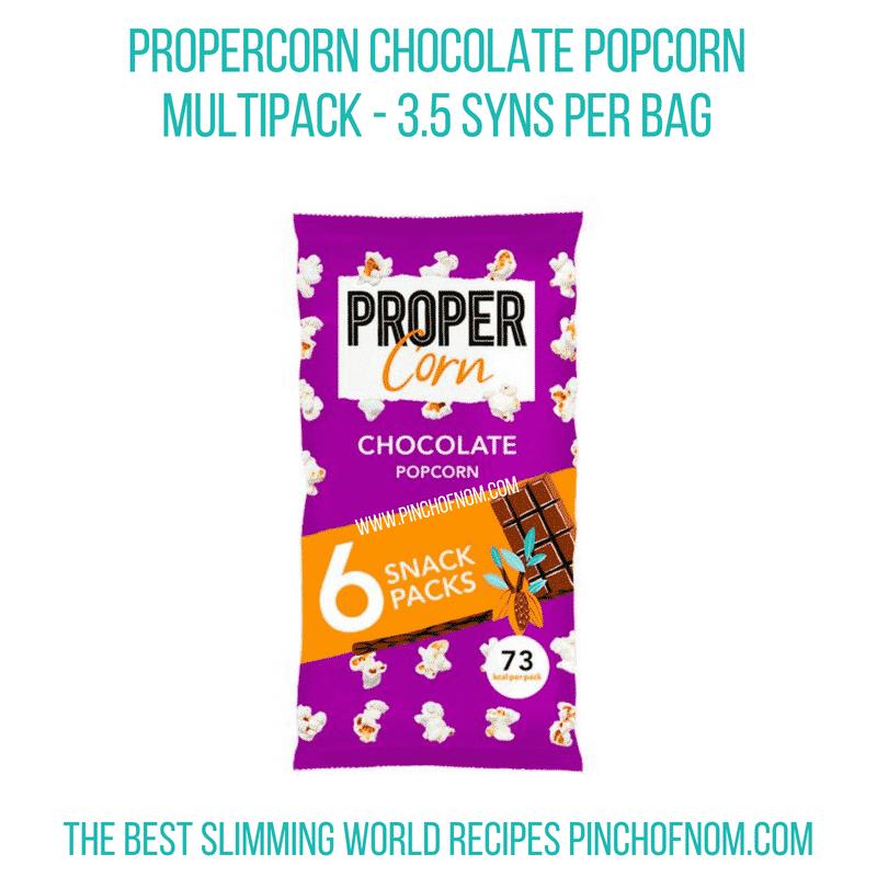 Propercorn Chocolate Popcorn - Pinch of Nom Slimming World Shopping Essentials
