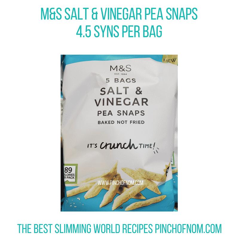 M&S Salt & Vinegar Pea Snaps - Pinch of Nom Slimming World Shopping Essentials