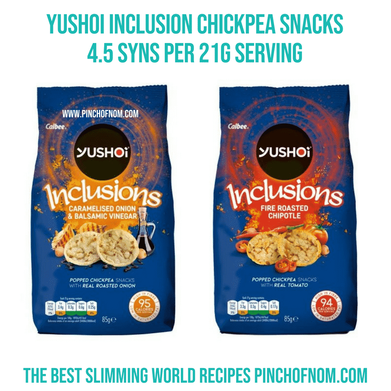 Yoshoi Inclusion Chickpea snacks - Pinch of Nom Slimming World Shopping Essentials