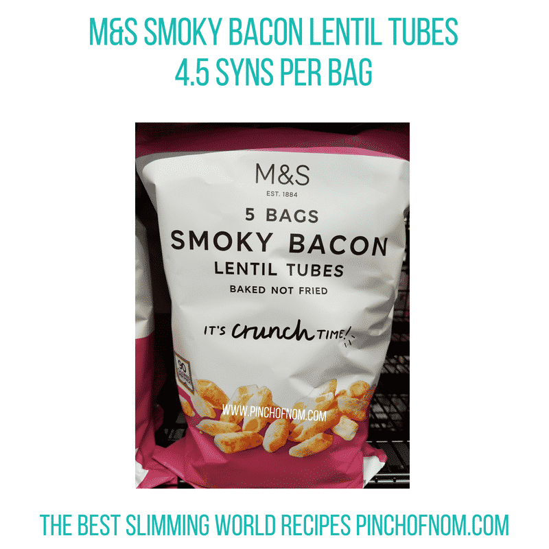 M&S Smoky Bacon lentil tubes - Pinch of Nom Slimming World Shopping Essentials