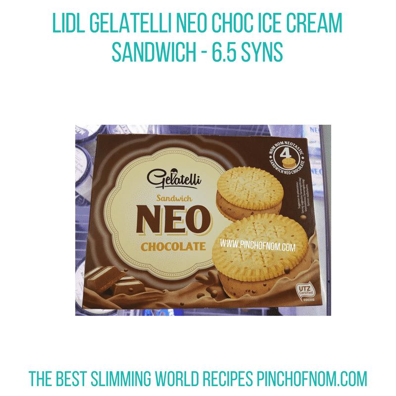 Gelatelli Neo Choc ice cream sandwich - Pinch of Nom Slimming World Shopping Essentials