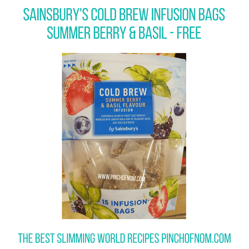 Sainsburys cold brew bags berry - Pinch of Nom Slimming World Shopping Essentials