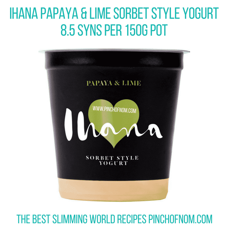 Ihana sorbet yogurt - Pinch of Nom Slimming World Shopping Essentials