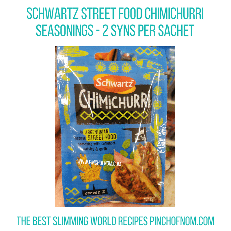 Schwartz Street Foods Chimichurri - Pinch of Nom Slimming World Shopping Essentials