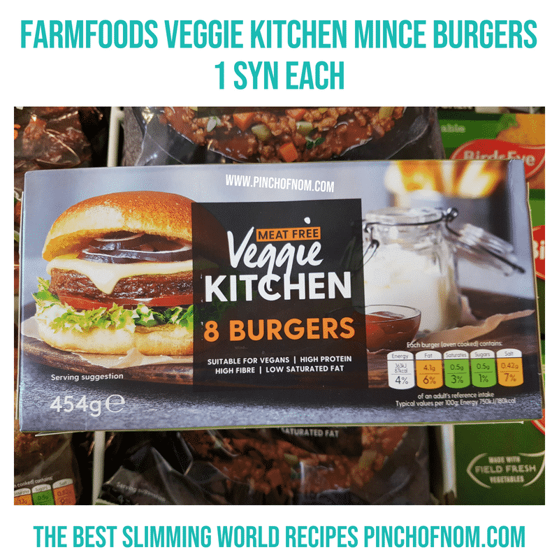 Veggie Kitchen burgers - Pinch of Nom Slimming World Shopping Essentials