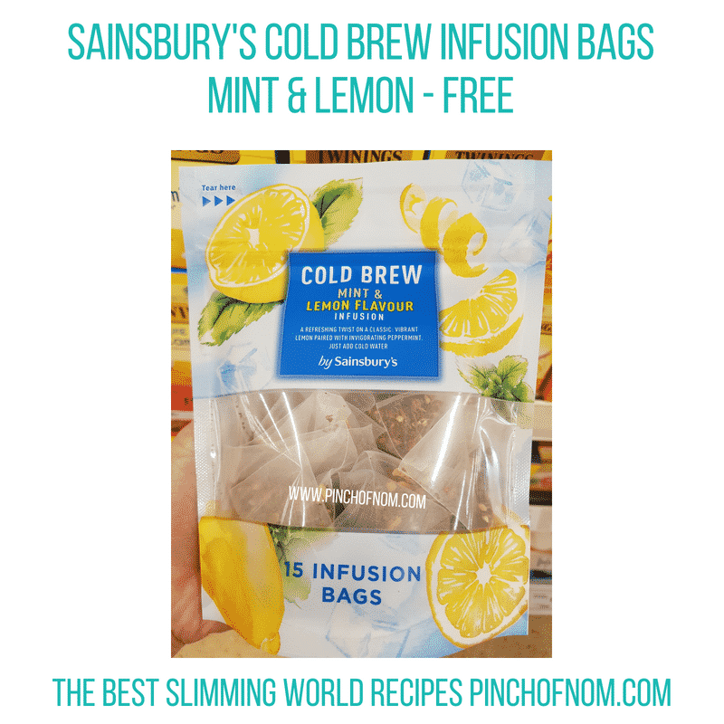 Sainsburys cold brew bags mint/lemon - Pinch of Nom Slimming World Shopping Essentials