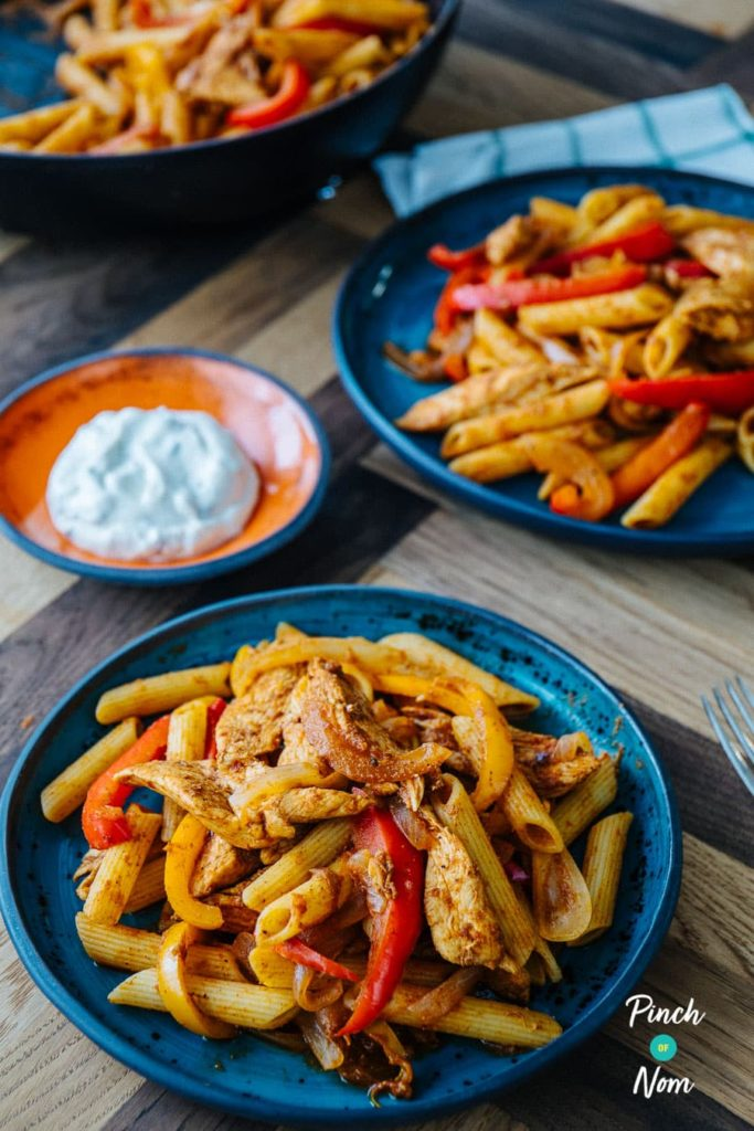 Chicken Fajita Pasta | Slimming & Weight Watchers Friendly
