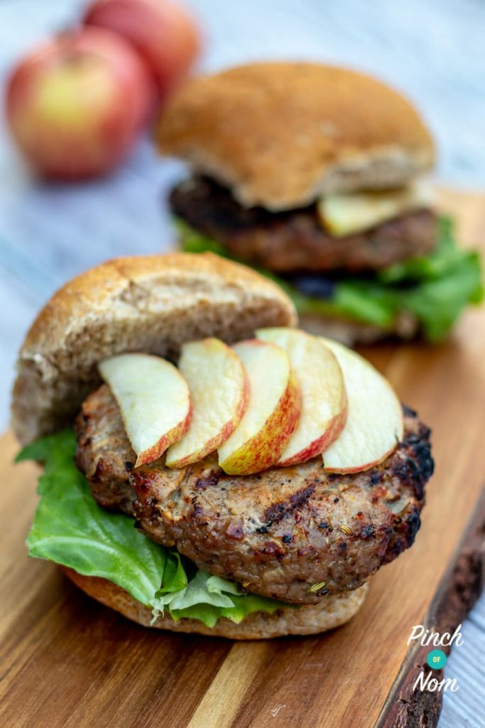 Low Syn Pork and Apple Burgers | Slimming World