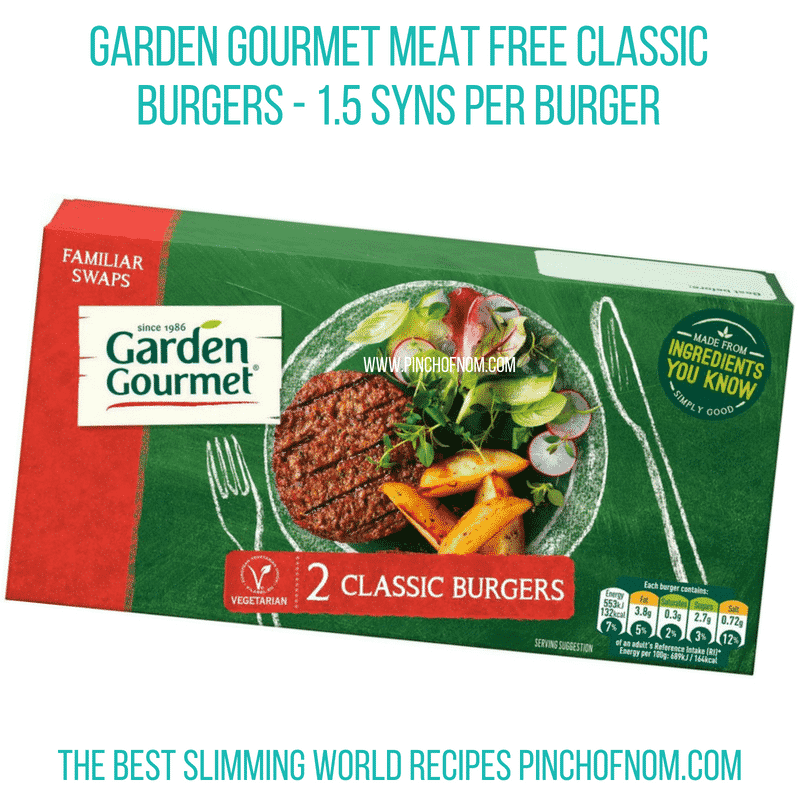Garden Gourmet burgers - Pinch of Nom Slimming World Shopping Essentials