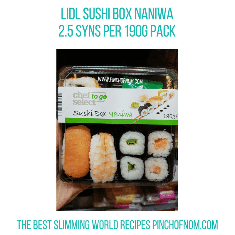 Lidl Sushi Box - Pinch of Nom Slimming World Shopping Essentials