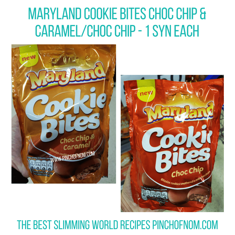 Maryland Cookie Bites - Pinch of Nom Slimming World Shopping Essentials