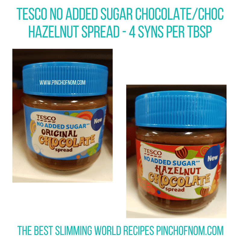 Tesco choc spread - Pinch of Nom Slimming World Shopping Essentials