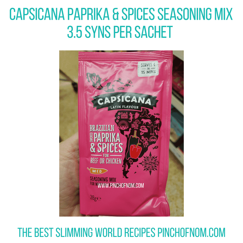 Capsicana seasoning - Pinch of Nom Slimming World Shopping Essentials