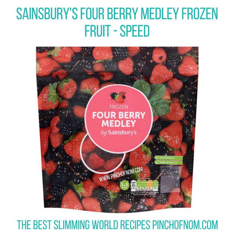 Sainsbury's 4 berry medley - Pinch of Nom Slimming World Shopping Essentials