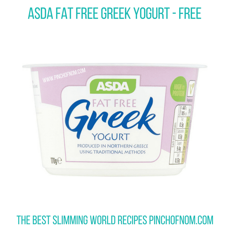 Asda Fat Free Greek Yogurt - Pinch of Nom Slimming World Shopping Essentials