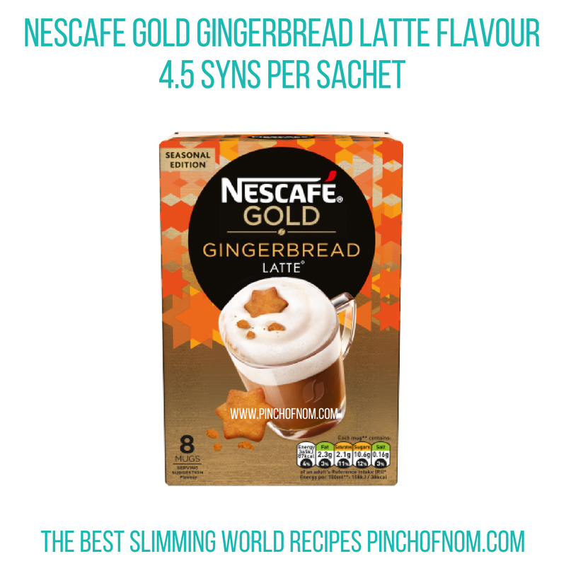 Nescafe Gingerbread latte - Pinch of Nom Slimming World Shopping Essentials