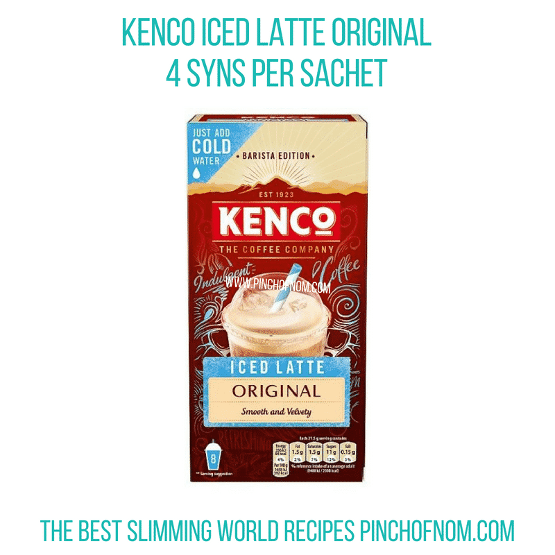 Kenco Iced Latte - Pinch of Nom Slimming World Shopping Essentials