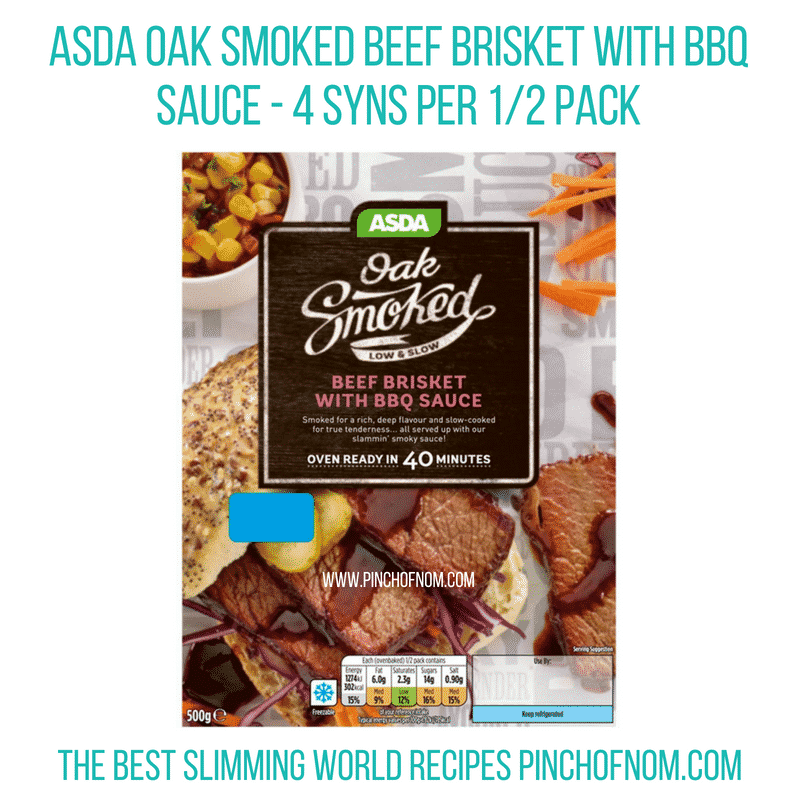 Asda Oak Smoked brisket - Pinch of Nom Slimming World Shopping Essentials