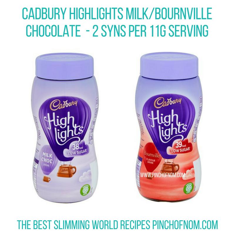 Cadbury Highlights - Pinch of Nom Slimming World Shopping Essentials