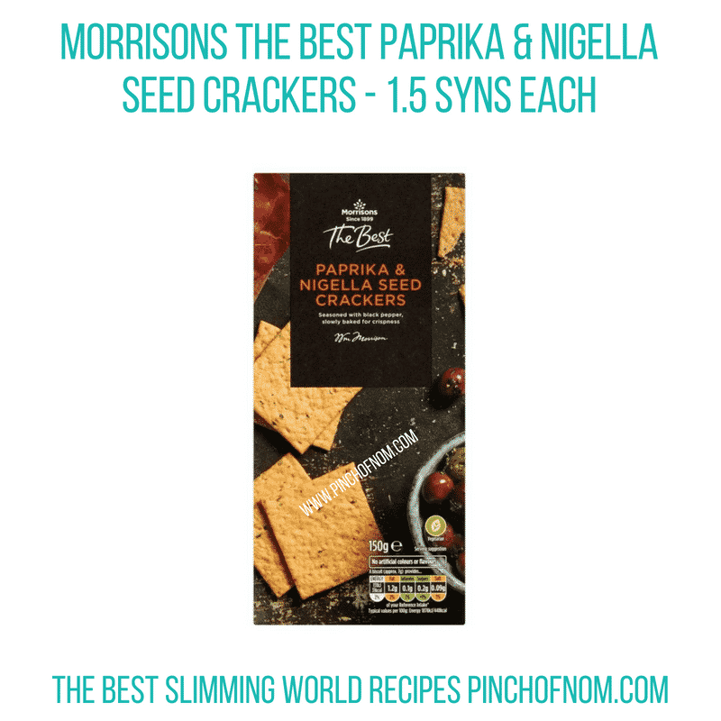 Morrisons The Best crackers - Pinch of Nom Slimming World Shopping Essentials